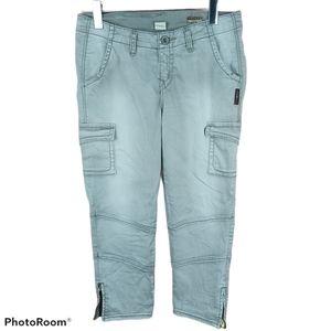 📣2/36$📣 Silver Earhart capri light gray jeans